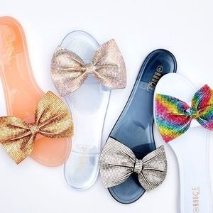 Shoes - Jelly rainbow slide sandals